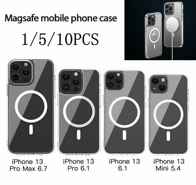 £19.62 • Buy Clear Magnectic Magsafe Case For IPhone 13 Pro Max Mini Shockproof TPU Cover Lot