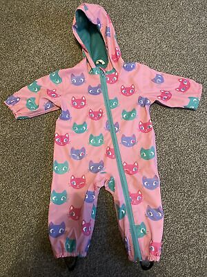 £2.20 • Buy Hatley Baby Girls Age 9-12 Months All In One Waterproof Zip Up Puddlesuit