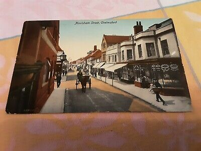 £1 • Buy Old Postcard Of Moulsham Street, Chelmsford, Essex Posted 1917