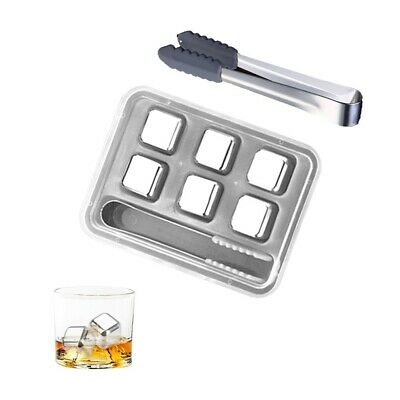 £12.03 • Buy Whiskey Stone Stainless Steel Chilling Ice Rock Drink Cooler Cube Reusable For