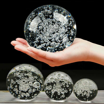 £4.59 • Buy 1/2/5X Bubble Glass Crystal Ball Healing Sphere Photography Props Lensball Decor