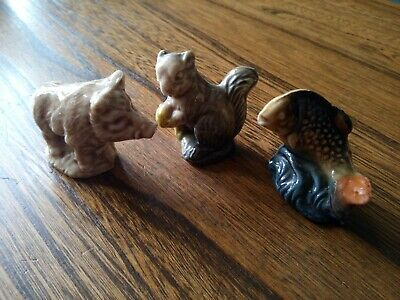 £4 • Buy Wade Whimsies Collectables X 3 Wildboar Squirrel Salmon