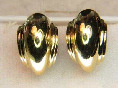£1236.63 • Buy 18kt Yellow Gold 16 Gram 7/8  Tiffany & Co. Paloma Picasso Clip & Post Earrings