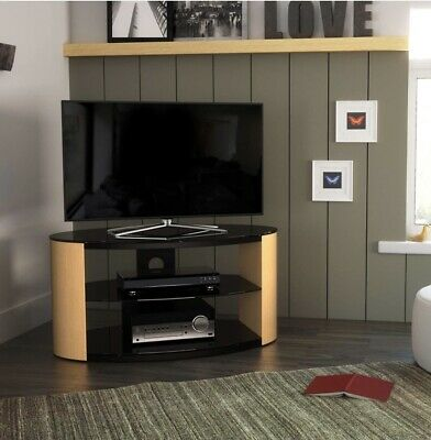 £5 • Buy Oak And Glass TV Stand Cabinet