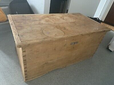 £100 • Buy Vintage Wooden Trunk Chest Shabby Chic