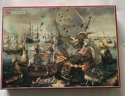 """£11 • Buy Jumbo 2000piece Jigsaw Puzzle """"The Battle Of Gibraltar 1607"""" By C.H.Vroom"""