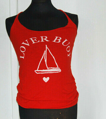 £2.99 • Buy Red Vest Top Tank Strappy Nautical Lover Buoy Slogan Ship T-shirt 12 Tee M