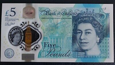 £6.50 • Buy Uncirculated First Run AA01 Low Serial Number 096934 Polymer £5 Banknote