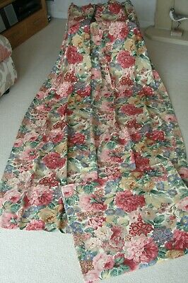 £115 • Buy New Pair Sanderson Rose And Peony Fabric Lined Floral Curtains  90 Long ~ Unused