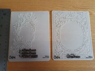 £5.90 • Buy Tim Holtz Sizzix Alterations Embossing Folders X 2 Book Cover And Flourish
