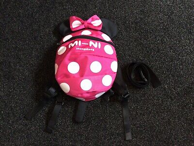 £4.99 • Buy Kids Safety Mini Mouse Harness Reins Toddler Backpack With Detachable Rein Strap