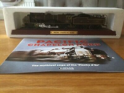 """£3 • Buy ATLAS EDITIONS MODEL TRAIN -  PACIFIC CHAPELON NORD"""" And Booklet"""