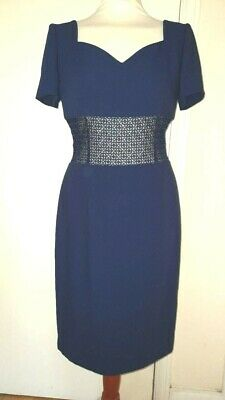 £0.99 • Buy VINTAGE 1990s Dress By LUISA SPAGNOLI MADE IN ITALY SIZE 10 NAVY SHIFT