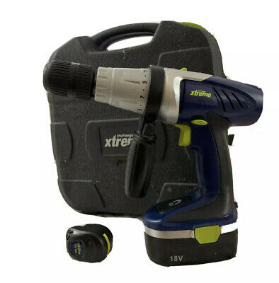 £24 • Buy Challenge Xtreme 18v Cordless Hammer Drill CDI2181 - Case, Battery & Charger