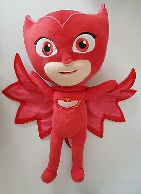 """£9.99 • Buy PJ Masks Plush Soft Toy Large 21"""" Red Owlette Just Play Genuine Authentic"""