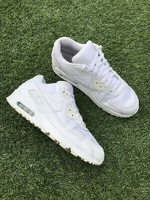 AU37.62 • Buy Nike Air Max 90 Essential White Trainers Size UK 9