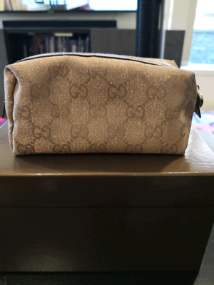 AU100 • Buy Gucci Cosmetic Bag Used Golden Colour