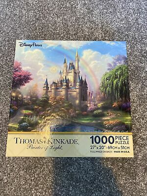 £18 • Buy Disney Parks A New Day At The Cinderella Castle Jigsaw Puzzle Thomas Kinkade