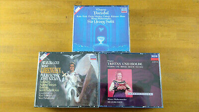 £8.95 • Buy 12cd 3set Full Silver Decca Wagner Parsifal/Lohengrin/Tristan&Isolde Solti Ex/nm