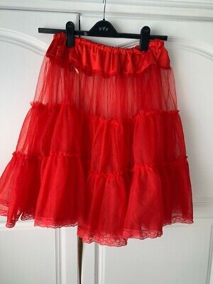 £5.99 • Buy H & R 1950's Style Red Net Petticoat Size 16