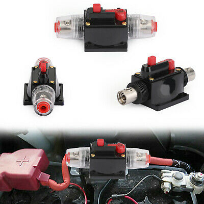 £10.79 • Buy 30A Automatic Circuit Breaker Inline Reset Replace Fuse For Car Audio Red A9