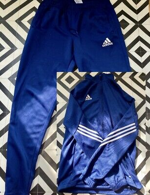 £5 • Buy ADIDAS - CLIMATE TRACKSUIT TOP AND BOTTOMS - BLUE, Size M