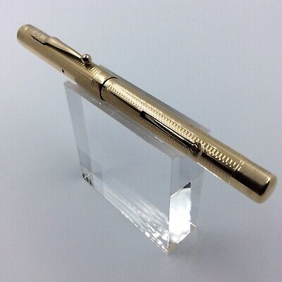£155 • Buy Swan Mabie Todd Gold Filled Lever Fill Fountain Pen, Oblique 14 Ct Gold Nib