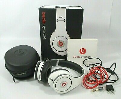 £16 • Buy Beats By Dr Dre Monster White Wired Studio High Definition Headphones With Case