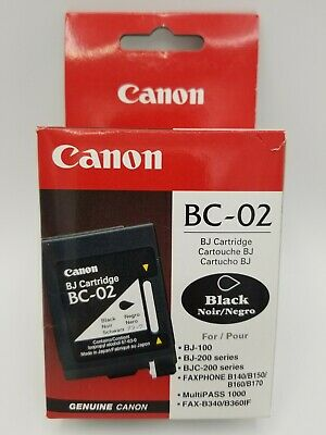 £10.62 • Buy Genuine CANON BC-02 Black Ink Cartridge NEW Sealed  Fast Free Shipping