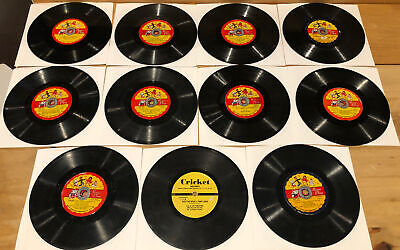 £10.97 • Buy Lot Of 11 Vintage Children's Records - Cricket Records, 1950's