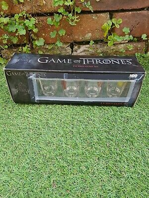 £12 • Buy Game Of Thrones Set Of 4 Glasses Official Licenced Merchandise  Free UK  Post