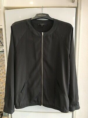 """£2.99 • Buy Next Ladies Black Long Sleeved Zip Up Top Size 18 Chest 46"""" Fab"""