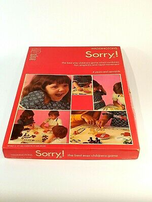 £9.95 • Buy SORRY! - Vintage 1977 Board Game - 99% COMPLETE - Waddingtons Family Retro Fun