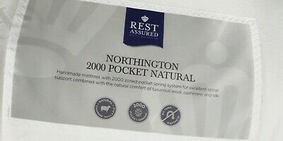 £349 • Buy New Rest Assured Northington Natural 2000 Pocket Sprung 4'6  Double Firm Mattres