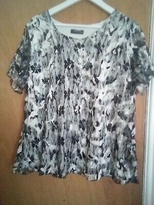 £1.10 • Buy Forever  By Michael Gold Top Gudnused XL Black By White Lacy Lined