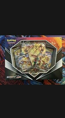 $49.99 • Buy POKEMON TCG Meowth VMAX Collection Box SEALED!! Evolutions Cosmic Eclipse