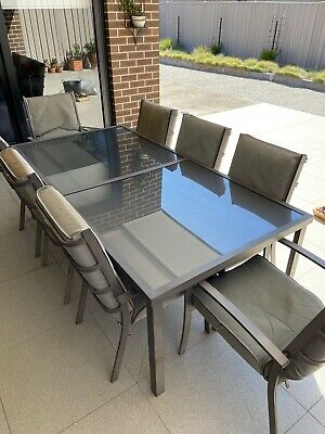 AU217.50 • Buy Del Terra 9 Piece Outdoor Dining Setting - Glass Table - Used - Cover Included!
