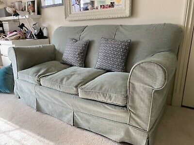 £150 • Buy Green Fabric Second Hand Sofa, Good Used Condition.