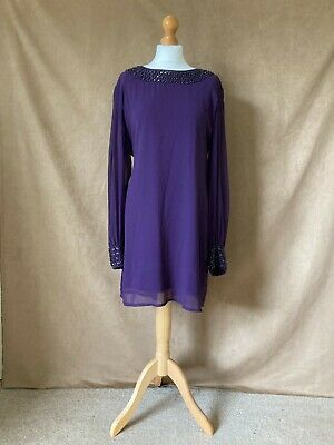 AU23.57 • Buy Womens / Ladies Elegant Lined Purple Evening Or Special Occasion Dress. Size 18.