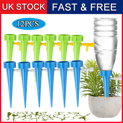 £6.99 • Buy 12Pcs Automatic Drip Irrigation Spikes Flower Plant Garden Self-Watering Device