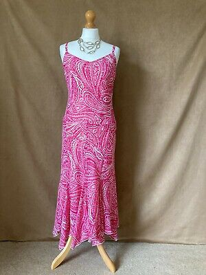 AU19.80 • Buy Womens / Ladies  Lined Pink Pattern Special Occasion Dress.Size 16