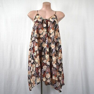 AU65 • Buy Zimmermann Relaxed Strappy Floral V Neck Swing Dress Size 0