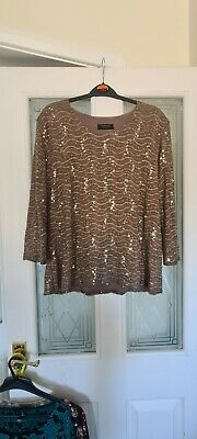 £5.50 • Buy Ladies Stunning Sparkly Top Forever By Michael Gold Uk Xl Bust 42 -44