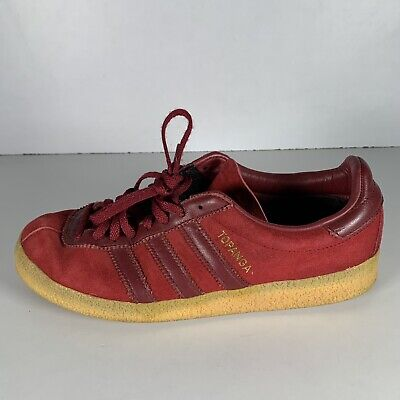 AU47.03 • Buy Adidas Topanga Men's Trainers Burgundy Red Suede Shoes Size UK 7 EUR 40.2/3