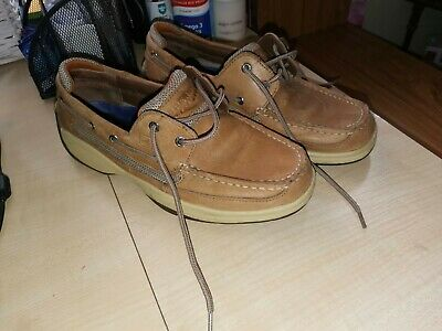 £21 • Buy Sperry Top-Sider 0777347 Mens Boat Deck Shoes Size 9W Brown Leather Uk 7