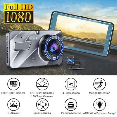 AU52.99 • Buy 1080P Car Dash Camera Video DVR Recorder Front And Rear Night Vision Dual Cam