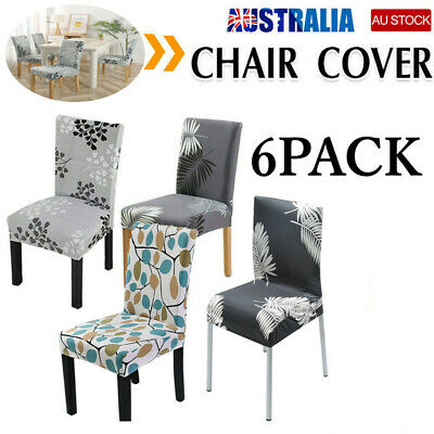 AU22.99 • Buy 6pcs Stretch Dining Chair Cover Seat Covers Washable Banquet Wedding Party AUS