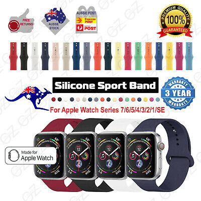 AU5.65 • Buy New Apple Watch Band Strap Silicone For IWatch Serie SE6 5 4 3 2 1 38 40 42 44mm