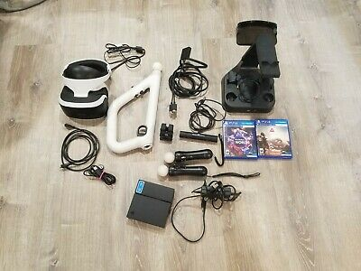 AU189.75 • Buy Sony PlayStation VR Headset PS4/5 PSVR CUH-ZVR1 Move & Aim Controls Games Bundle