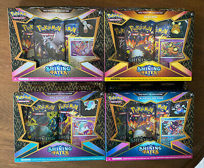 $10.50 • Buy COMPLETE SET Pokemon TCG Shining Fates Mad Party Pin Collections Box All 4 Boxes